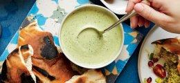 Salsa tahini verde especiada